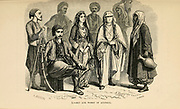 Man and woman of Anatolia, Turkey  engraving on wood From The human race by Figuier, Louis, (1819-1894) Publication in 1872 Publisher: New York, Appleton