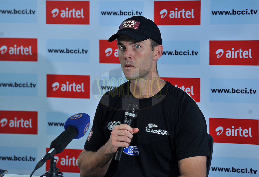 James Franklin of New Zealand addresses a press conference after the second International T20 match between India and New Zealand held at the M. A. Chidambaram Stadium in Chennai on the 11th September 2012..Photo by Pal Pillai/BCCI/SPORTZPICS