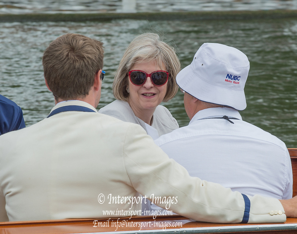 Henley, England.  GB Goverment, Home Secretary Teressa MAY, and MP for Maidenhead. 2015 Henley Royal Regatta, Henley Reach, River Thames, 14:47:41  Friday  03/07/2015   [Mandatory Credit. Peter SPURRIER/Intersport Images.2015 Henley Royal Regatta, Henley Reach, River Thames, 14:47:44  Friday  03/07/2015   [Mandatory Credit. Peter SPURRIER/Intersport Images.