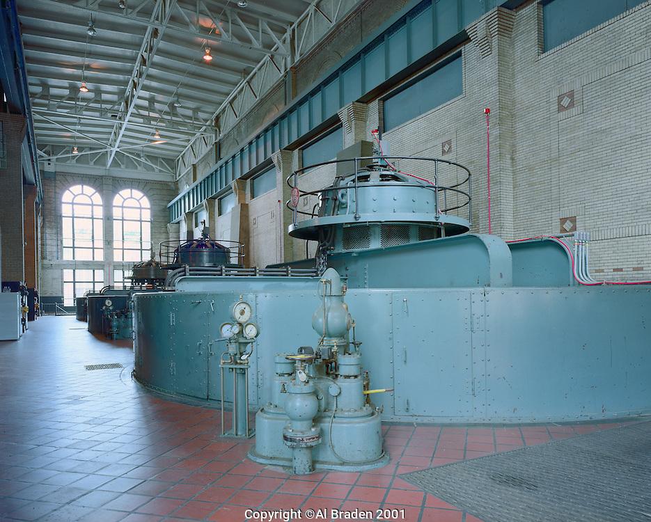 Electric power generators at Bellows Falls Station, Bellows Falls, VT