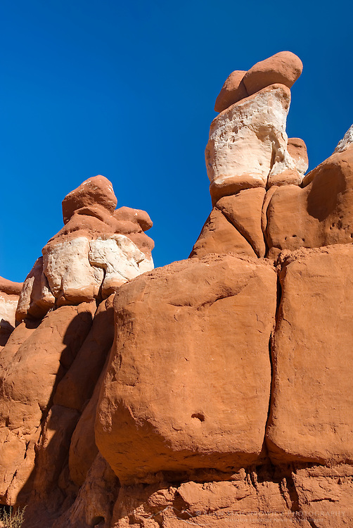 Odd shaped hoodoos in Little Egypt, a small geologic site in southern Utah