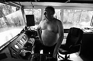 Patrick Cherrier sur le Piranha, durant une chaude journée d'été.