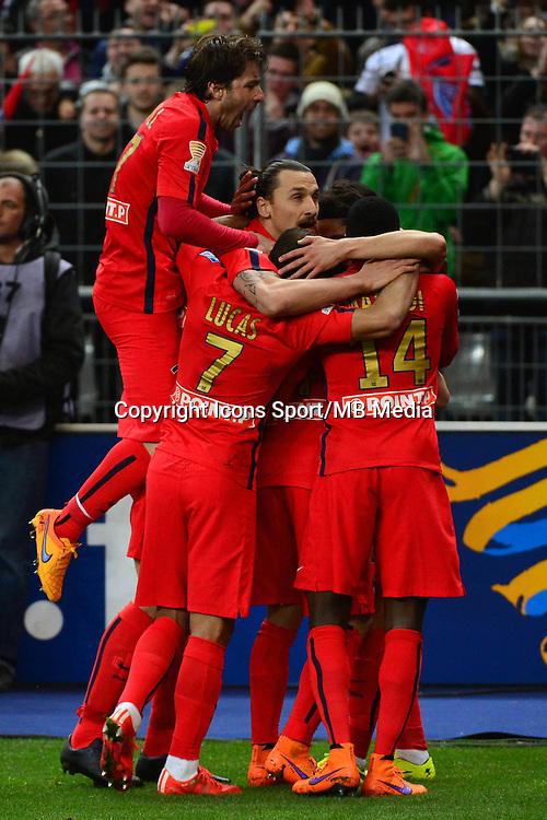 Joie Edinson CAVANI  - 11.04.2015 -  Bastia / PSG - Finale de la Coupe de la Ligue 2015<br />Photo : Dave Winter / Icon Sport