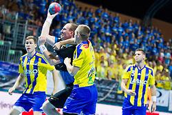 during handball match between RK Celje Pivovarna Lasko vs RK Gorenje Velenje of Super Cup 2015, on August 29, 2015 in SRC Marina, Portoroz / Portorose, Slovenia. Photo by Urban Urbanc / Sportida