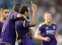 Marcos Tavares #9 of Maribor celebrates after he scored second goal for Maribor during football match between ND Gorica and NK Maribor in 9th Round of Prva liga Telekom Slovenije 2015/16, on September 12, 2015, in Sports centrum Nova Gorica, Slovenia. Photo by Vid Ponikvar / Sportida