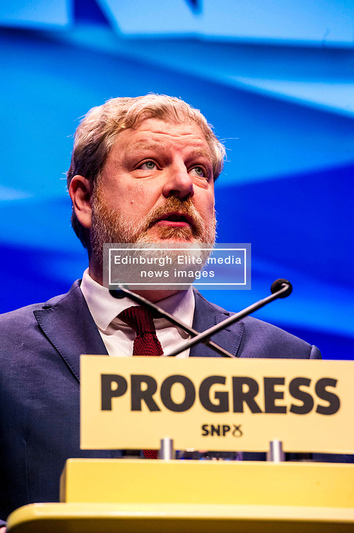 Pictured: Depute leader, Angus Robertson<br /> The members of the SNP gathered in the Scottish Events Centre in Glasgow for their annual conference.<br /> Ger Harley   EEm 10 October 2017