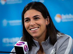 January 1, 2019 - Brisbane, Australia - Ajla Tomljanovic of Australia talks to the media after winning her first-round match at the 2019 Brisbane International WTA Premier tennis tournament (Credit Image: © AFP7 via ZUMA Wire)