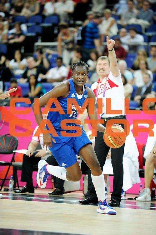 DESCRIZIONE : Basketball Jeux Olympiques Londres Demi finale<br /> GIOCATORE : Digbeu Jennifer<br /> SQUADRA : France  FEMME<br /> EVENTO : Jeux Olympiques<br /> GARA : France Russie<br /> DATA : 09 08 2012<br /> CATEGORIA : Basketball Jeux Olympiques<br /> SPORT : Basketball<br /> AUTORE : JF Molliere <br /> Galleria : France JEUX OLYMPIQUES 2012 Action<br /> Fotonotizia : Jeux Olympiques Londres demi Finale Greenwich Northwest Arena<br /> Predefinita :