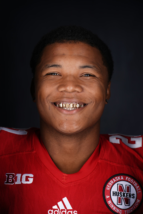 Lamar Jackson #21 during a portrait session at Memorial Stadium in Lincoln, Neb. on June 6, 2017. Photo by Paul Bellinger, Hail Varsity