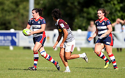 Carrie Roberts of Bristol Ladies runs with the ball - Mandatory by-line: Robbie Stephenson/JMP - 18/09/2016 - RUGBY - Cleve RFC - Bristol, England - Bristol Ladies Rugby v Aylesford Bulls Ladies - RFU Women's Premiership