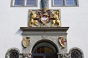 Portal Österreichisches Schlösschen, Radolfzell, Bodensee, Untersee, Baden-Württemberg, Deutschland