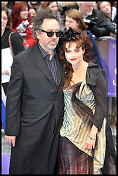 Tim Burton and Helena Bonham Carter attends the UK premiere of 'Dark Shadows' at Empire Leicester Square, May 9, 2012, Wednesday May 9, 2012. Photo By Andrew Parsons/ i-Images