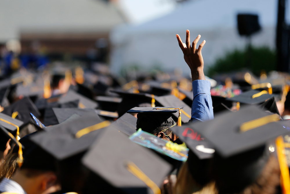 Students at the University of Rochester's Commencement Ceremony on Sunday, May 18, 2014.