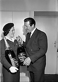 1962 - Champagne arrives for Horse Show Week Party