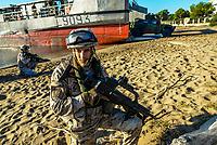 The Spanish troops of Tercio de Armada secure the beach before landing.<br /> Les troupes espagnoles du Tercio de Armada securisent la plage avant un debarquement<br /> Major exercise of the NATO as part of NATO RESPONSE FORCES , the exercise BRILLIANT MARINER 17, managed by the Navy,  is from September 29th till October 13th, 2017 in the western Mediterranean Sea.<br /> This exercise gathers 13 nations, 3500 servicemen and around thirty committed ways (ships, submarines, aircrafts)<br /> BRILLIANT MARINER 17 joins in the cycle of preparation of the Nato Response Force ( NRF),  multinational strength with high level of preparation, compound of elements of  land forces, of the air, the navy and Special forces.<br /> This exercise is the last stage before France exercises the command of the maritime component command (MCC)) of the NRF in 2018, for a duration of one year.<br /> <br /> BRILLIANT MARINER 17 <br /> Exercice majeur de l'OTAN dans le cadre de la prise d'alerte NATO RESPONSE FORCE <br /> L'exercice BRILLIANT MARINER 17, conduit par la Marine nationale, se déroule du 29 septembre au 13 octobre 2017 en Méditerranée occidentale.Cet exercice réunit 13 nations, 3500 militaires et une trentaine de moyens engagés (bâtiments, sous-marins, aéronefs). <br /> BRILLIANT MARINER 17 s'inscrit dans le cycle de préparation de la Nato Response Force (NRF), force multinationale à haut niveau de préparation, composée d'éléments des armées de terre, de l'air, de la marine et des Forces Spéciales. <br /> Cet exercice est la dernière étape avant que la France n'exerce le commandement de la composante maritime (maritime component command (MCC)) de la NRF en vue de sa prise d'alerte en 2018, pour une durée d'un an.