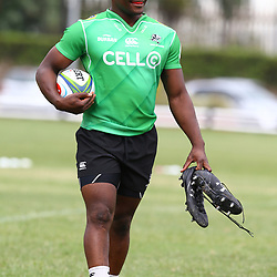 Chiliboy Ralepelle during the cell c sharks training session at  Growthpoint Kings Park 13,02,2018 Photo by Steve Haag)