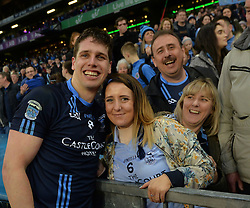 Lee Keegan celebrates with his girlfriend Aoife Duffy,<br />