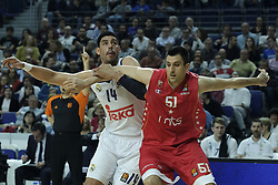 March 10, 2017 - Madrid, Madrid, Spain - Gustavo Ayon  of Real Madrid in action during the 2016/2017 Turkish Airlines EuroLeague Regular Season Round 25 game between Real Madrid v Crvena Zvezda mts Belgrade at Wizink Center on March 10, 2017 in Madrid, Spain. Photo: Oscar Gonzalez/NurPhoto  (Credit Image: © Oscar Gonzalez/NurPhoto via ZUMA Press)