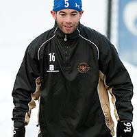 St Johnstone Training....01.01.10<br /> Peter MacDonald pictured during training this morning ahead of tomorrow's trip to Falkirk<br /> see story by Gordon Bannerman Tel: 07729 865788<br /> Picture by Graeme Hart.<br /> Copyright Perthshire Picture Agency<br /> Tel: 01738 623350  Mobile: 07990 594431
