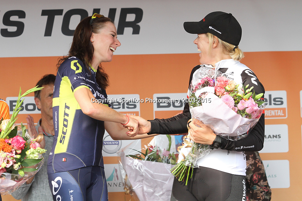 03-09-2017: Wielrennen: Boels Ladies Tour: Sittard: Annemiek van Vleuten wint de 2017 Boels Ladies Tour voor Anna van der Breggen en Ellen van Dijk.