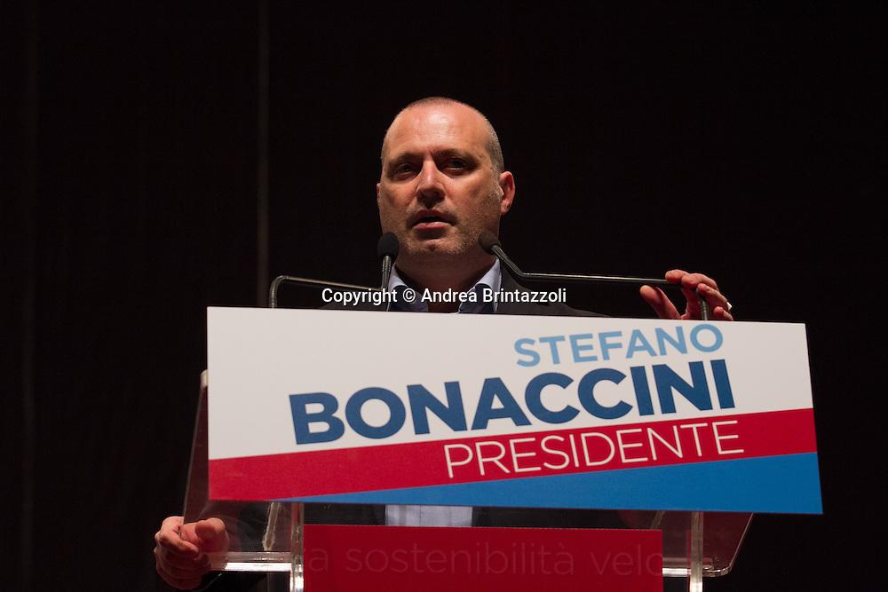 Bologna 20/11/2014 Elezioni Regionali 2014: Chiusura Campagna Elettorale<br /> Nella foto Stefano Bonaccini