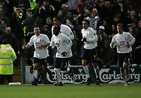 Photo: Lee Earle.<br /> Portsmouth v Tottenham Hotspur. The Barclays Premiership. 01/01/2007. Tottenham's Steed Malbranque (L) celebrates his goal.
