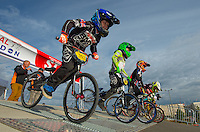 LONDON UK 29TH JULY 2016:  BMX Finals. Prudential RideLondon BMX Grand Prix at the London Velo Park. Prudential RideLondon in London 29th July 2016<br /> <br /> Photo: Bob Martin/Silverhub for Prudential RideLondon<br /> <br /> Prudential RideLondon is the world's greatest festival of cycling, involving 95,000+ cyclists – from Olympic champions to a free family fun ride - riding in events over closed roads in London and Surrey over the weekend of 29th to 31st July 2016. <br /> <br /> See www.PrudentialRideLondon.co.uk for more.<br /> <br /> For further information: media@londonmarathonevents.co.uk