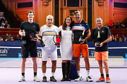 WINNERS of the during the Men's Doubles Final, Jamie Murray and Mansour Bahrami, runners up Goran Ivanisevic and Mikael Pernfors, Champions Tennis match at the Royal Albert Hall, London, United Kingdom on 9 December 2018. Picture by Ian Stephen.