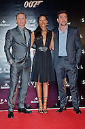 "NAOMIE HARRIS, JAVIER BARDEM AND DANIEL CRAIG.attend the premiere of the twenty-third 007 adventure, ""Skyfall"" at Santa Ana Square, Madrid_29/10/2012.Mandatory Credit Photo: ©NEWSPIX INTERNATIONAL..**ALL FEES PAYABLE TO: ""NEWSPIX INTERNATIONAL""**..IMMEDIATE CONFIRMATION OF USAGE REQUIRED:.Newspix International, 31 Chinnery Hill, Bishop's Stortford, ENGLAND CM23 3PS.Tel:+441279 324672  ; Fax: +441279656877.Mobile:  07775681153.e-mail: info@newspixinternational.co.uk"