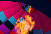 Flame firing into a hot air balloon