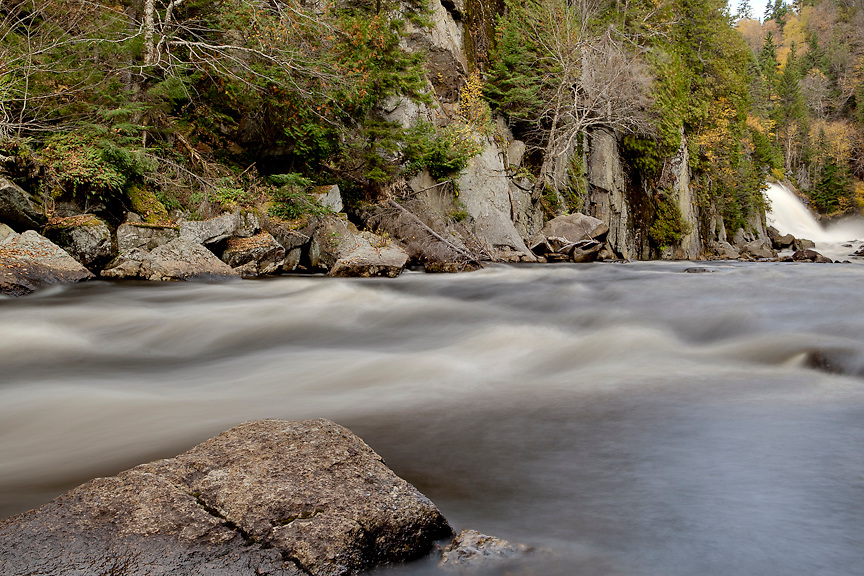 La Riviere du Diable (the Devil's River) flows from Le Chute-du-Diable through Mont Tremblant National Park in Quebec, Canada. PHOTO BY TIM SNOW
