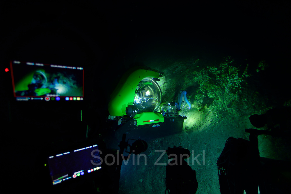 Dr. Diva Amon (Deep-sea Biologist) in submersible Deep Rover. Central equatorial Atlantic Ocean, Saint Peter and Saint Paul Archipelago, Brazil #STP17 [first published through bioGraphic, a program of the California Academy of Sciences] |