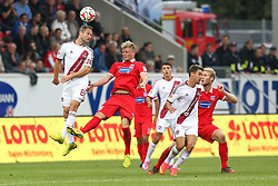 24.09.2014, Voith Arena, Heidenheim, GER, 2. FBL, 1. FC Heidenheim vs 1. FC Nuernberg, 7. Runde, im Bild Links Jan Polak ( 1.FC Nuernberg ) Marcel Titsch-Rivero (1.FC Heidenheim) // during the 2nd German Bundesliga 7th round match between 1. FC Heidenheim and 1. FC Nuernberg at the Voith Arena in Heidenheim, Germany on 2014/09/24. EXPA Pictures © 2014, PhotoCredit: EXPA/ Eibner-Pressefoto/ Langer<br /> <br /> *****ATTENTION - OUT of GER*****