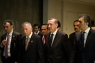 Turkish Prime Minster, Recep Tayyip Erdogan at the Second Conference of the Group of Friends of the Syrian People, held in Istanbul, Turkey on April the 1st 2012.