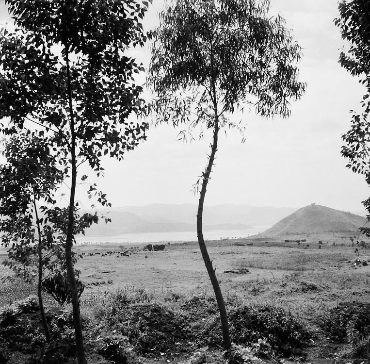 Lake, Ruhengeri, Ruanda-Urundi (now Rwanda), Africa, 1937