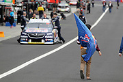 A young fan in front of the Shane van Gisbergen & Earl Bamber (Red Bull Holden Racing Team) car. Supercheap Auto Bathurst 1000 -Virgin Australia Supercars Championship Round 13. Mount Panorama, Bathurst NSW on Wednesday 3 October 2018. Photo Clay Cross / photosport.nz