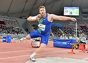 Ryan Crouser (USA) wins the shot put at 72-7 1/4 (22.13m) during the IAAF Doha Diamond League 2019 at Khalifa International Stadium, Friday, May 3, 2019, in Doha, Qatar (Jiro Mochizuki/Image of Sport)
