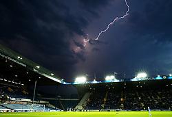 A fork of lightning over Hillsborough, thunderstorms delay the kick off for 15 minutes - Mandatory by-line: Matt McNulty/JMP - 13/09/2016 - FOOTBALL - Hillsborough - Sheffield, England - Sheffield Wednesday v Bristol City - Sky Bet Championship