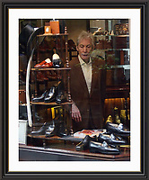 Charlie Watts Surveys The Hand made Steppers in Bond Street, Large ,Museum-quality Archival signed Framed Print (Limited Edition)