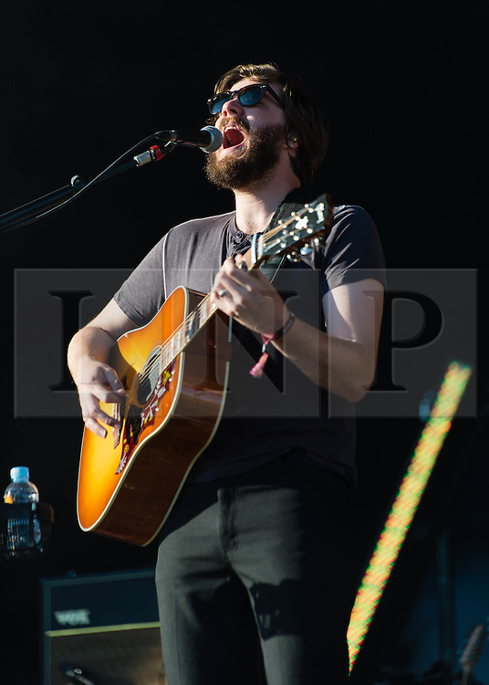 © Licensed to London News Pictures. 29/05/2014. Barcelona, Spain.   Midlake performing live at Primavera Sound Festival . In this picture - Eric Nichelson.  Midlake are an American folk rock band consisting of Eric Pulido, McKenzie Smith, Paul Alexander, Eric Nichelson, Jesse Chandler and Joey McClellan. Primavera Sound, or simply Primavera, is an annual music festival that takes place in Barcelona, Spain in late May/June within the Parc del Fòrum leisure site. Photo credit : Richard Isaac/LNP