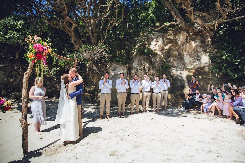 toby & marianna's wedding at hotwater beach venue stone terrace ceremony at hahei beach coromandel wedding felicity jean photography