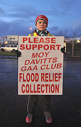 Moy Davitts GAA Club held a flood relief collection outside McHale Park on saturday as Mayo took on the Dubs.<br /> Pic Conor McKeown