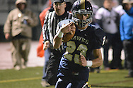 Council Rock South's Kyle Hickey #23 scores a touchdown against Central Bucks East in the second quarter Friday October 2, 2015 at Council Rock North in Newtown, Pennsylvania.  (Photo by William Thomas Cain)