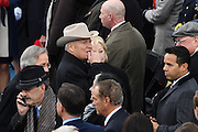 Former Vice President Dick Cheney wearing a cowboy hat arrives for the President Inaugural Ceremony on Capitol Hill January 20, 2017 in Washington, DC. Donald Trump became the 45th President of the United States in the ceremony.