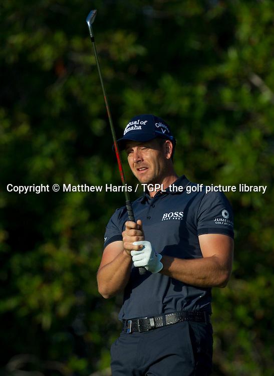 Henrik STENSON (SWE) during first round Abu Dhabi HSBC Golf Championship 2016, Abu Dhabi GC,Abu Dhabi,UAE.