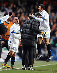 16-03-2010 VOETBAL: CHELSEA FC  - INTER MILAAN : LONDON<br /> Javier Zanetti and Wesley Sneijder<br /> ©2010- nph /  Chris Brunskill
