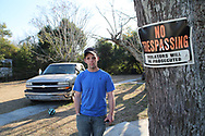 Tommy O'Hara on his grand-ma's land. He has been living with her since his dad unexpectedly died in 2015. He mainly grew up outside the community. <br />
