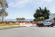 Covid19 Closed Off Park With Police Car Supervision in Laguna Beach