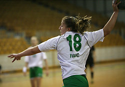 Mateja Ivanc of Olimpija at  handball game between women team RK Olimpija vs ZRK Brezice at 1st round of National Championship, on September 13, 2008, in Arena Tivoli, Ljubljana, Slovenija. Olimpija won 41:17. (Photo by Vid Ponikvar / Sportal Images)