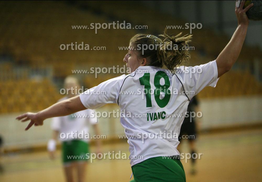 Mateja Ivanc of Olimpija at  handball game between women team RK Olimpija vs ZRK Brezice at 1st round of National Championship, on September 13, 2008, in Arena Tivoli, Ljubljana, Slovenija. Olimpija won 41:17. (Photo by Vid Ponikvar / Sportal Images)